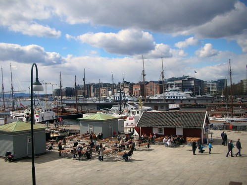 View from above of the Warf