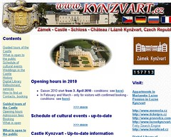 Kynžvart - starý web
