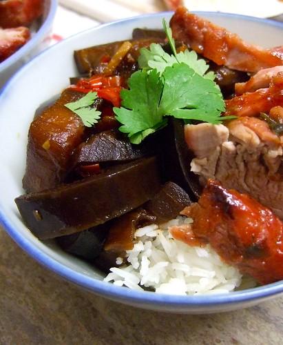 Char Siu Pork + Shanghai Eggplant