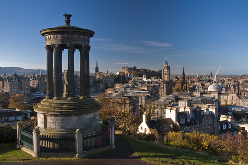Classic Edinburgh under blue sky