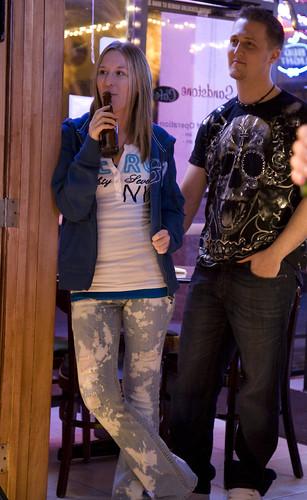 Robert and Amanda watching the band