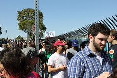 Mike Fabio in Line to Enter at LA Street Food Fest