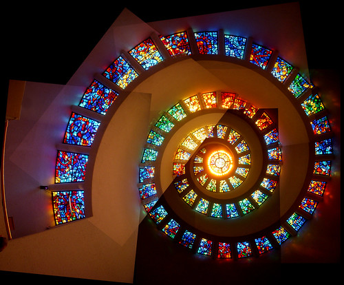 Glory Window in the Thanks-Giving Square Chapel