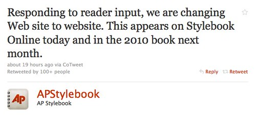 Twitter / AP Stylebook: Responding to reader input ...