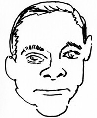 Jean-Claude Van Damme, drawn in 2 minutes on 2010/04/17