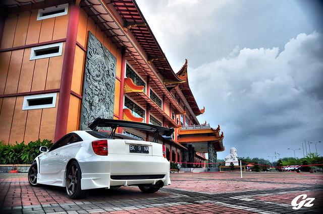 White Celica rear