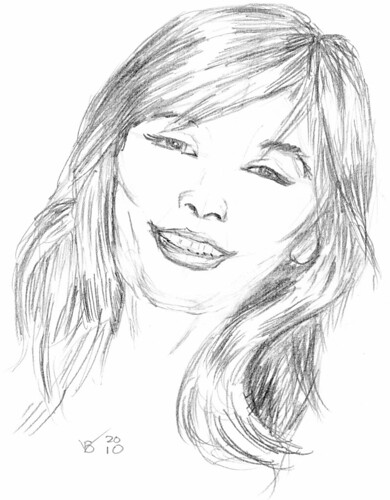 Cute lady, drawn on May 5, 2010