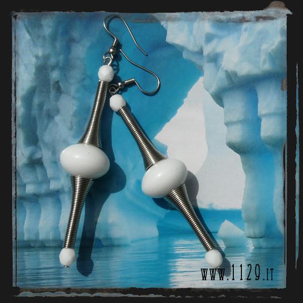 LFBIAN orecchini bianchi - white spring earrings 1129