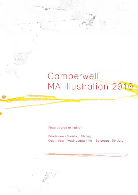 2010 MA Illustration degree show invite