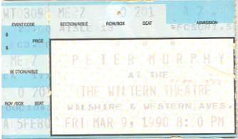 Peter Murphy, March 1990