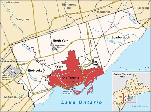 Metropolitan Toronto Map, from Wikipedia