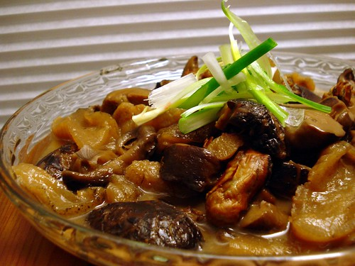 Stewed Shitake Mushroom, Dried Oysters, & Sea Cucumber