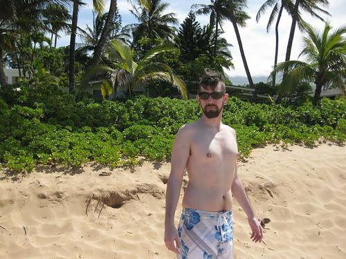 The Whitest Man on Keawakapu Beach
