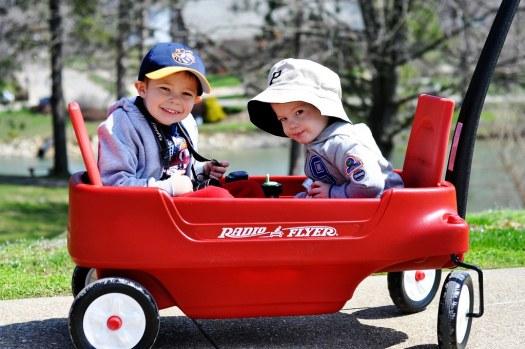 Boys in a Wagon