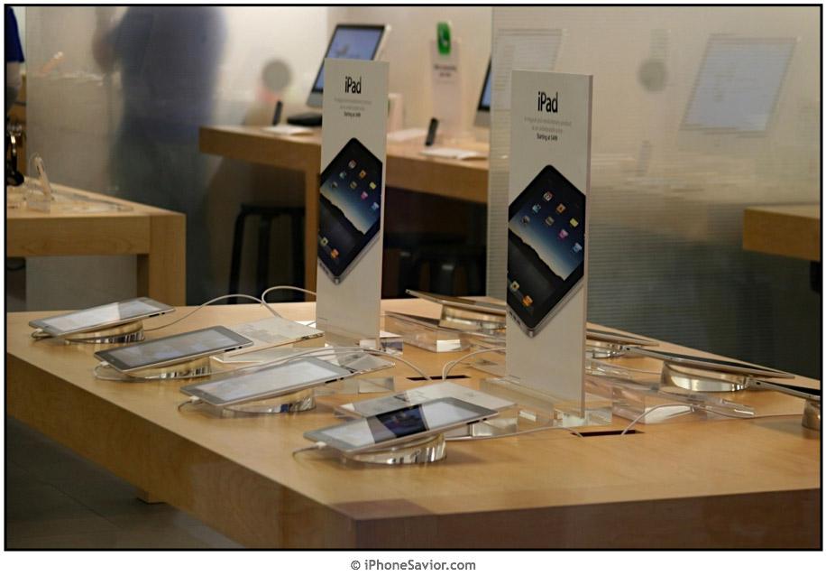 iPad Apple Store View