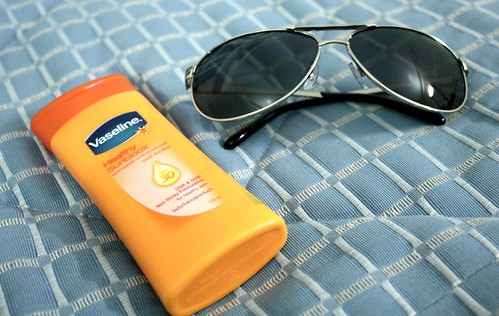 Sunblock and Sunglasses