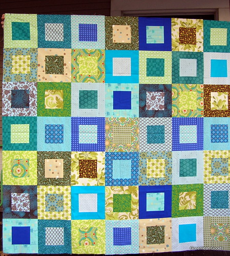 Green and Blue quilt top