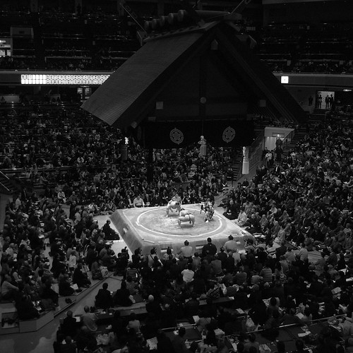 In the Ryogoku Kokugikan