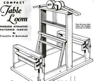 Woodworking Plans Table Loom Plans PDF Plans