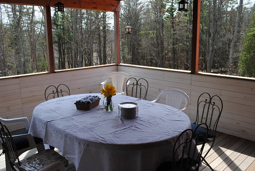 easter sunday on the deck