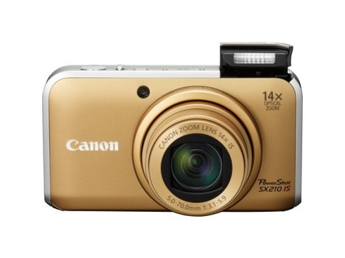 PowerShot SX210 IS_gold_front