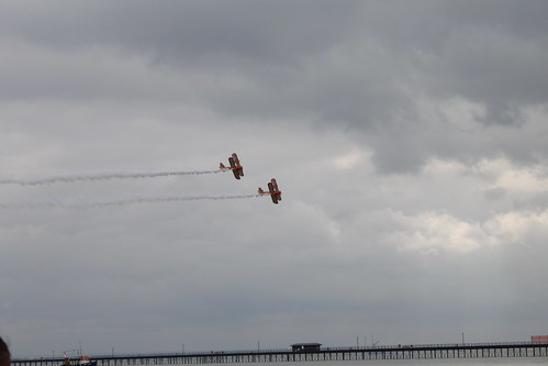 Bi-Planes above the pier
