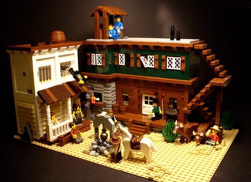 LEGO Wild West diorama