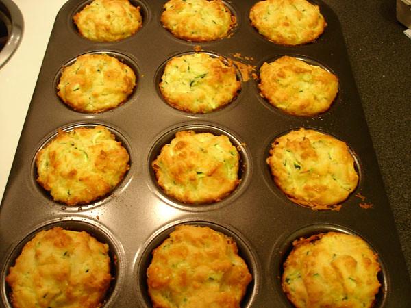 Zucchini & cheddar muffins