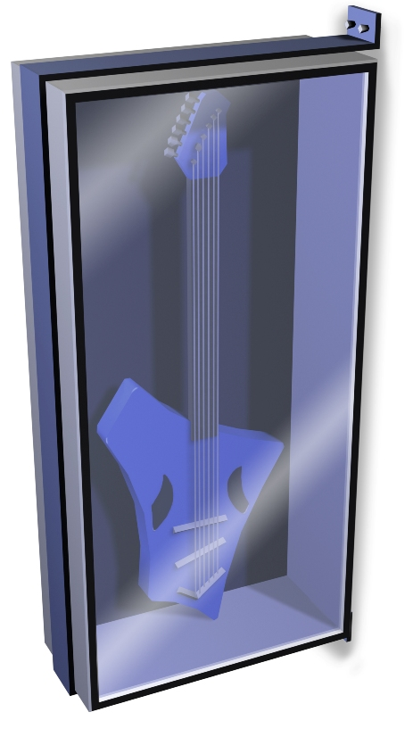 HQ render of the commemorative guitar pre-order for The Sims 3 High End Loft Stuff