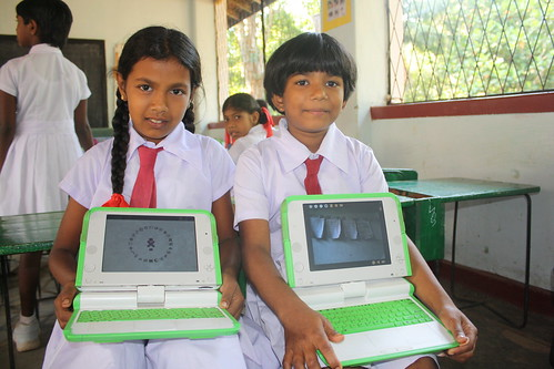 OLPC launch in Boossa, Sri Lanka