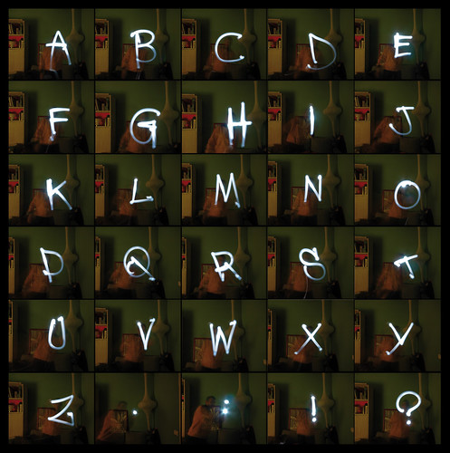 lettering in light painting