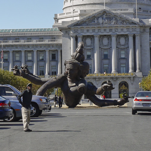 Six Arm Three Head Buddha at Civic Center/City Hall, Downtown, SF