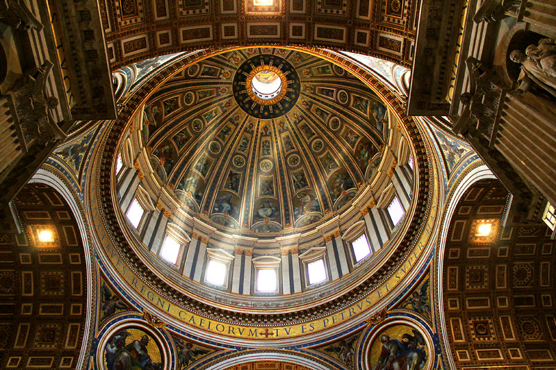The magnificent St. Peter's Basilica Dome by Michelangelo