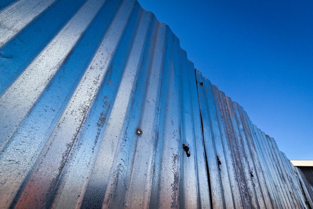 Recycling scrapyard fence
