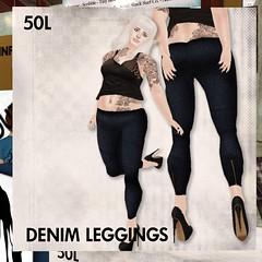 This is a Fawn - 50L Denim Leggings - Dark