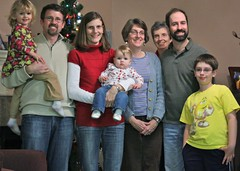The whole family at Christmas 2009 in Houston