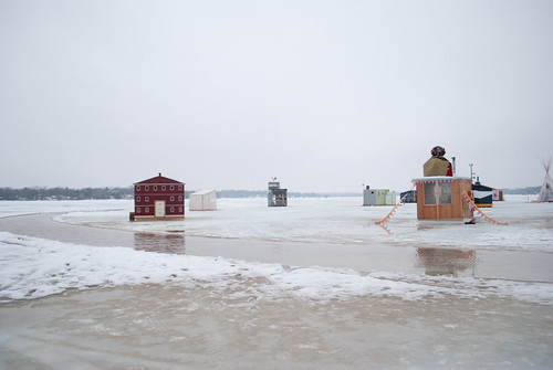 art shanties in water