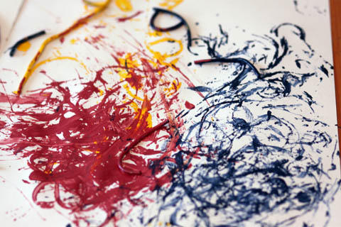 Painting with Spaghetti