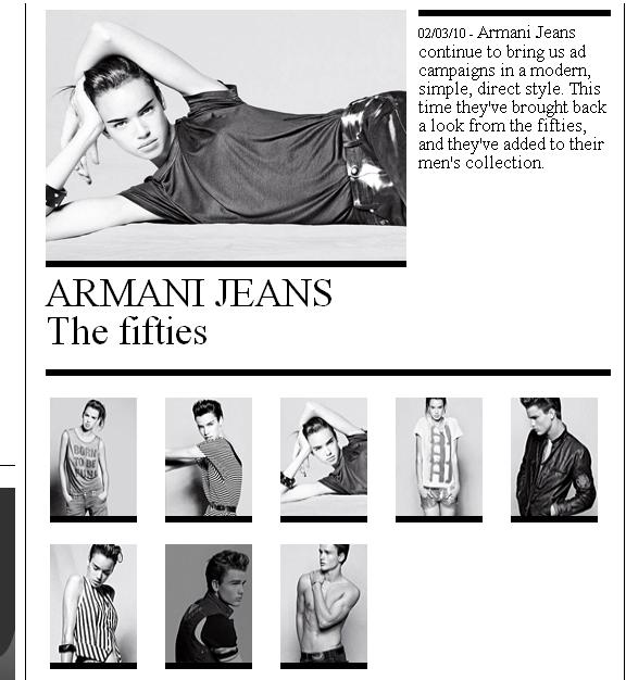 armani jeans the fiftics