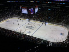 The view from the Staples Center press box