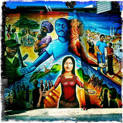 Global Refugee Mural - Taken With An iPhone