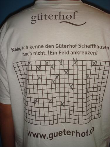 Rückseite Güterhof T-Shirt