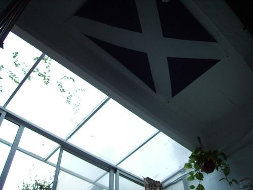 Flag of Scotland with light ilumination