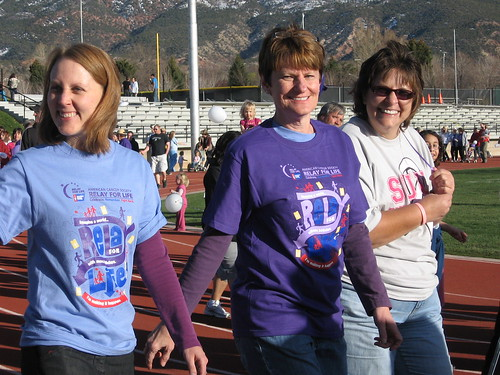 My mom and me in the Relay for Life