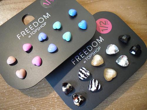 Topshop heart-earrings