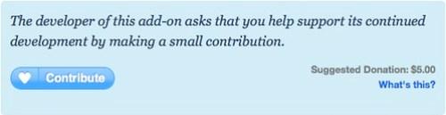 Firefox plugin donations