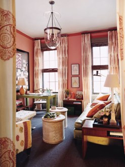 Domino living room pink