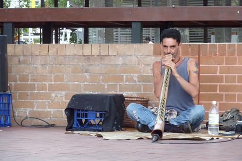 Musician in Darling Harbour, Sydney