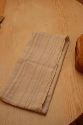 Le sac à pain mis à plat