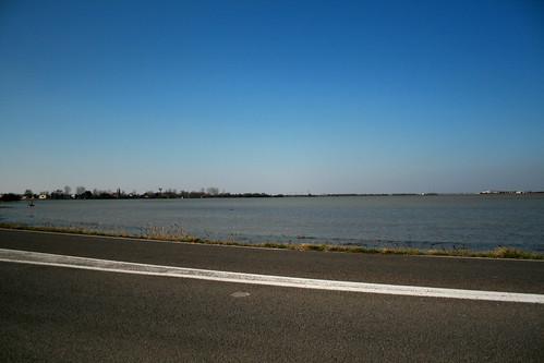D746 : sortie de l'Aiguillon 05/03/2010 Inondations Xynthia